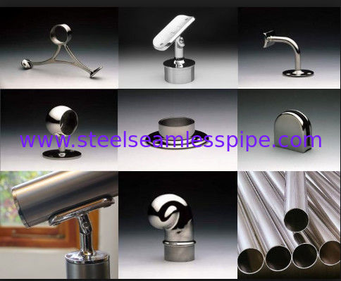 Stainless steel fittings for Handrail Bracket Glass Tube Stair system(Herrajes en acero inoxidable) SS201 SS304 SS316